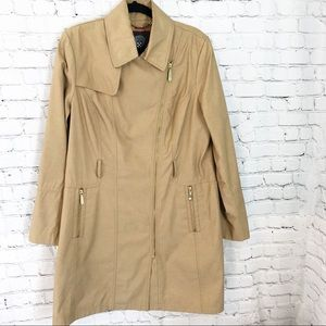 Vince Camuto Trench Coat Gold Zipper L